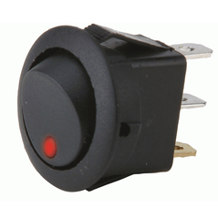Round Rocker Switch Red Led