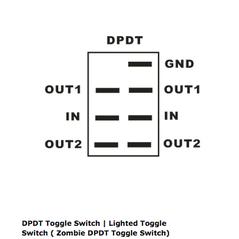 Lifetime LED DPDT LED Light Bar Switch