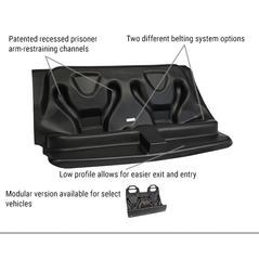 Go Rhino Aedec Molded Rear Prisoner Seat w/Poly Screen For Ford Interceptor Utility
